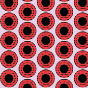 Scarlet Grid Dots