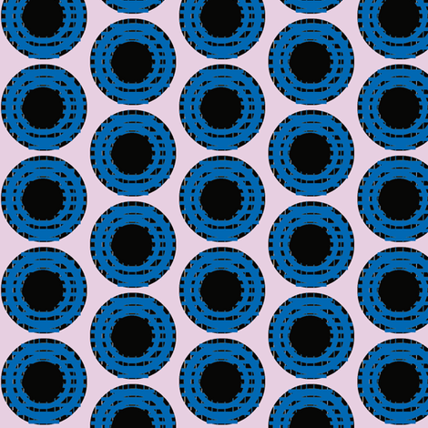Blue Grid Dots fabric by boris_thumbkin on Spoonflower - custom fabric