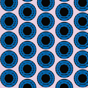 Blue Grid Dots