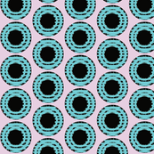 Robin's Egg Blue Grid Dots