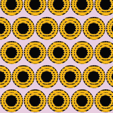 Marigold Grid Dots fabric by boris_thumbkin on Spoonflower - custom fabric