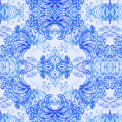 China Blue fabric by joanmclemore on Spoonflower - custom fabric