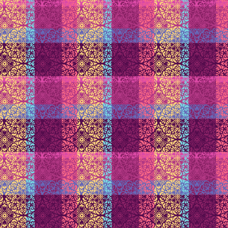Mandala Plaid fabric by emilyclaire on Spoonflower - custom fabric