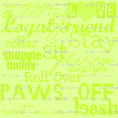 dog words