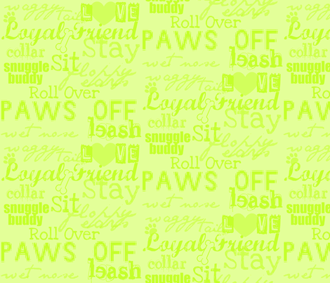 dog words fabric by gg33 on Spoonflower - custom fabric
