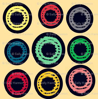 VIntage Multi Grid Button Dots