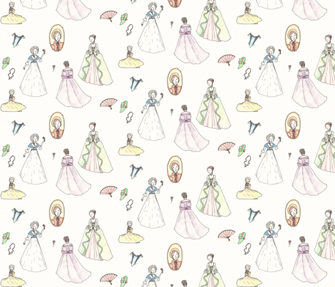 Dreaming of Dresses fabric by laurasashabobo on Spoonflower - custom fabric