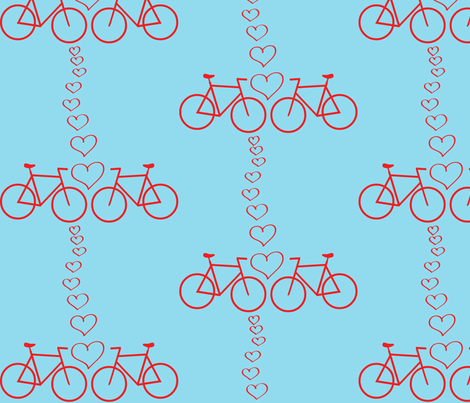 bike love fabric by christy_kay on Spoonflower - custom fabric
