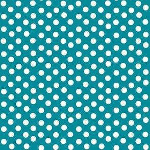 Pretty Polka Dots in Teal