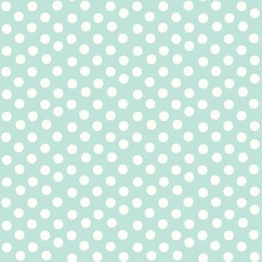 Pretty Polka Dots in Mint