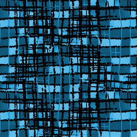 mad plaid blacknblue fabric by nalo_hopkinson on Spoonflower - custom fabric