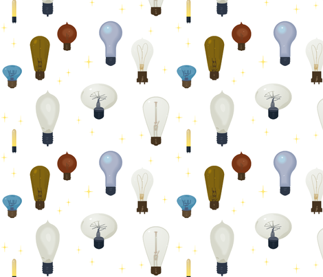 Lightbulbs fabric by muhlenkott on Spoonflower - custom fabric