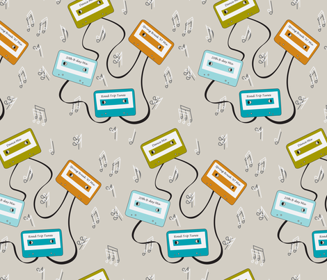 Mixed Tape Memories fabric by lauriebaars on Spoonflower - custom fabric