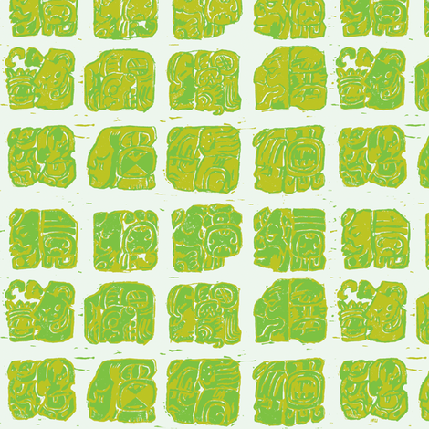Palenque Glyphs 1b fabric by muhlenkott on Spoonflower - custom fabric