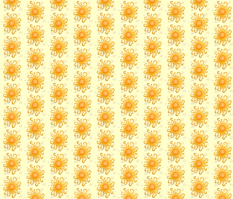happy sun fabric by krs_expressions on Spoonflower - custom fabric