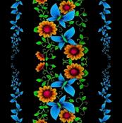 Gypsy flowers & butterflies