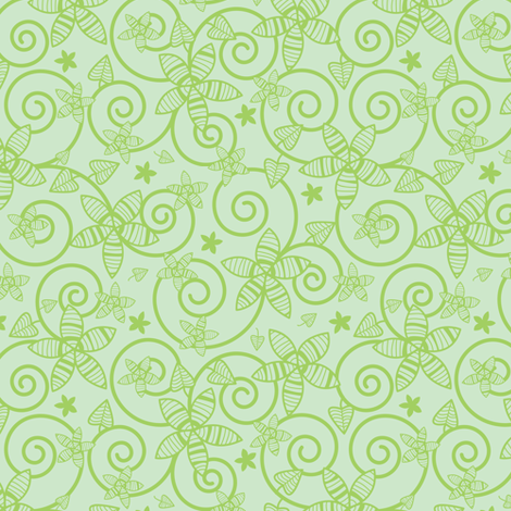 Leafy Garden fabric by robyriker on Spoonflower - custom fabric