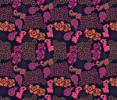 Gypsy Floral fabric by locamode on Spoonflower - custom fabric