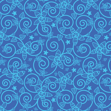 Midnight Garden fabric by robyriker on Spoonflower - custom fabric