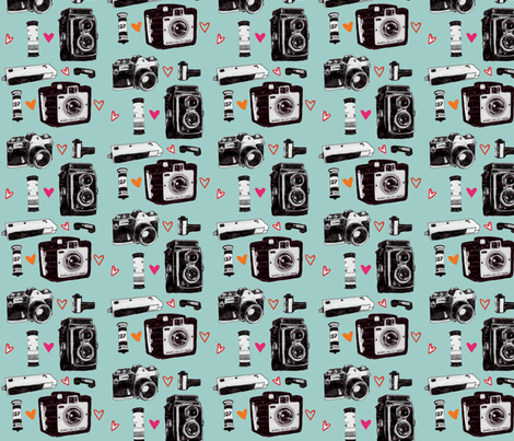 camera love fabric by xoelle on Spoonflower - custom fabric