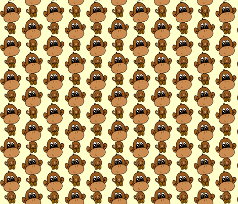 baby monkey fabric by krs_expressions on Spoonflower - custom fabric