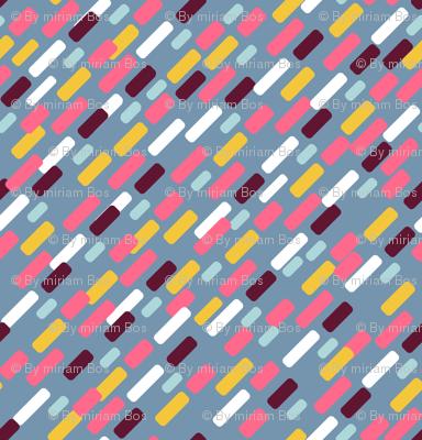 Diagonal brick Pattern | blue