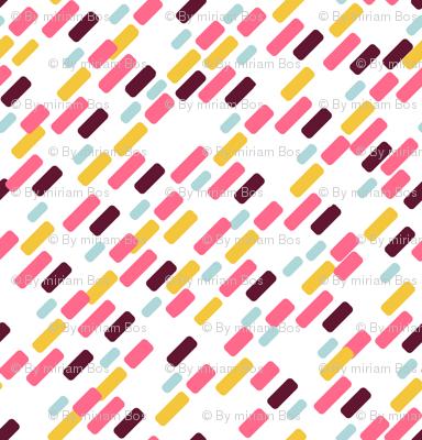 Diagonal brick Pattern | white