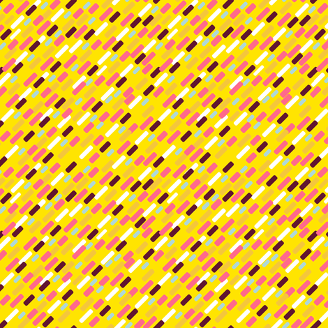 Diagonal brick Pattern | yellow fabric by irrimiri on Spoonflower - custom fabric