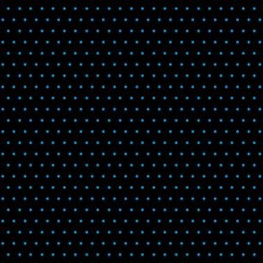Polka blue on black