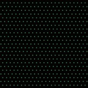 Polka green on black