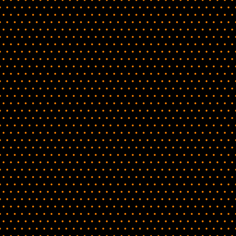 Polka orange on black fabric by glanoramay on Spoonflower - custom fabric