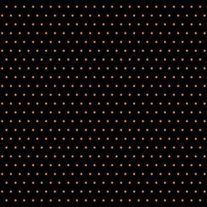 Polka orange on black