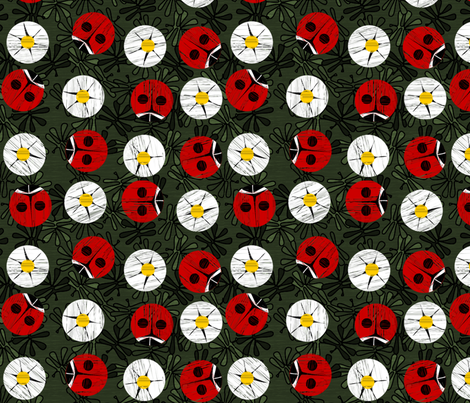 ladybug_dots_2 fabric by glimmericks on Spoonflower - custom fabric