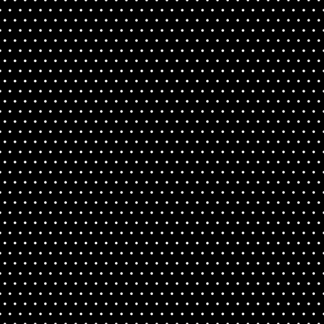 Polka white on black fabric by glanoramay on Spoonflower - custom fabric