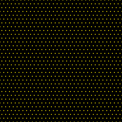 Polka yellow on black fabric by glanoramay on Spoonflower - custom fabric