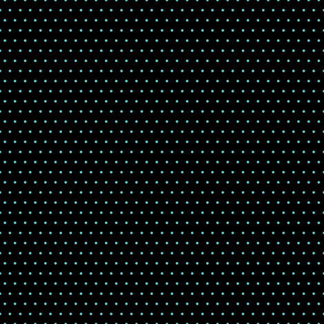 Polka mint on black fabric by glanoramay on Spoonflower - custom fabric