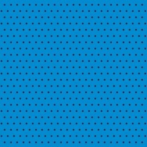 Polka black on blue