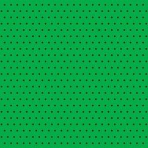 Polka black on green