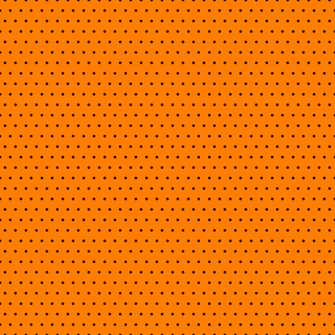 Polka black on orange