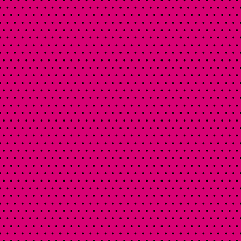 Polka black on pink fabric by glanoramay on Spoonflower - custom fabric