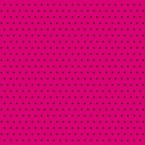 Polka black on pink