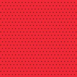 Polka black on red