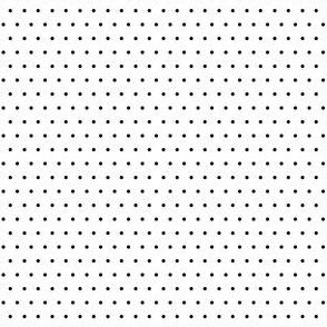 Polka black on white