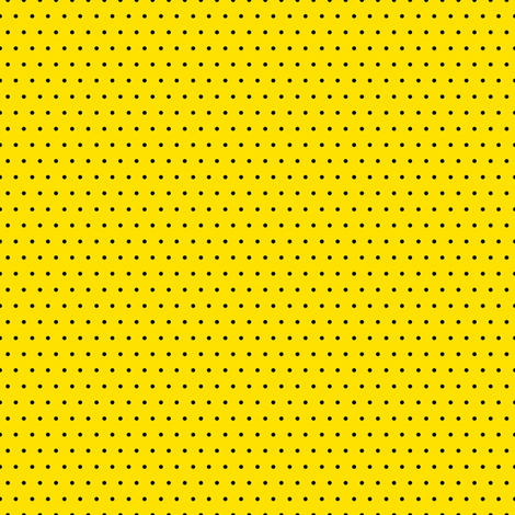 Polka black on yellow fabric by glanoramay on Spoonflower - custom fabric