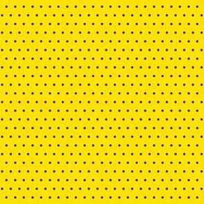 Polka black on yellow