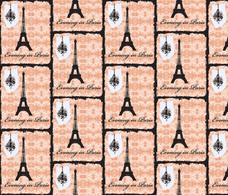 Evening in Paris on new black fabric by karenharveycox on Spoonflower - custom fabric