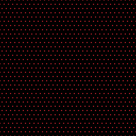 Polka red on black fabric by glanoramay on Spoonflower - custom fabric