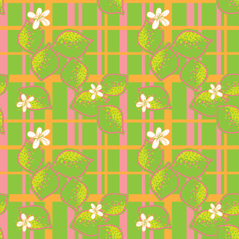 lime lines (plaid) fabric by palmrowprints on Spoonflower - custom fabric
