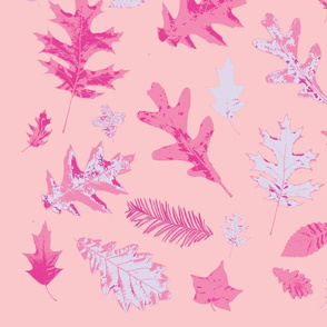 Falling leaves pink