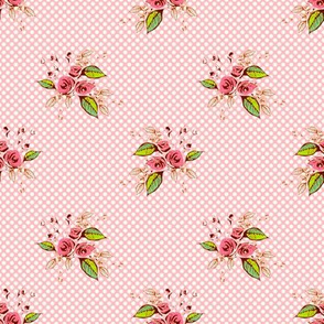 Parson's Pink Roses and Dots larger scale